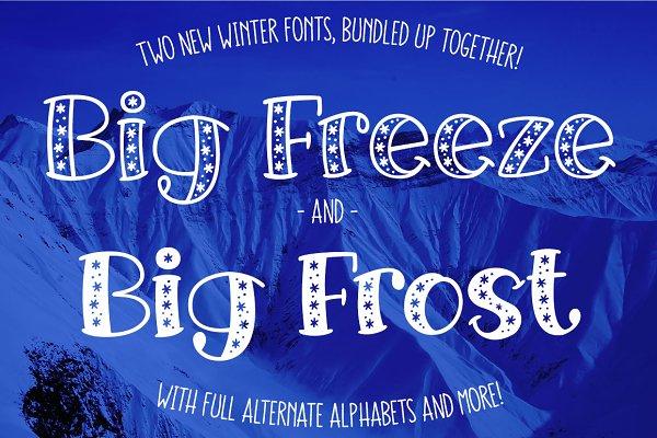 Big Freeze & Big Frost: winter font…