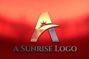 Elegant A Letter Sun Rise Logo