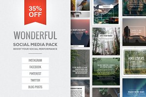 Wonderful Social Media Pack