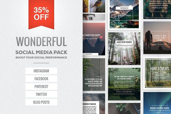 Wonderful Social Media Pack