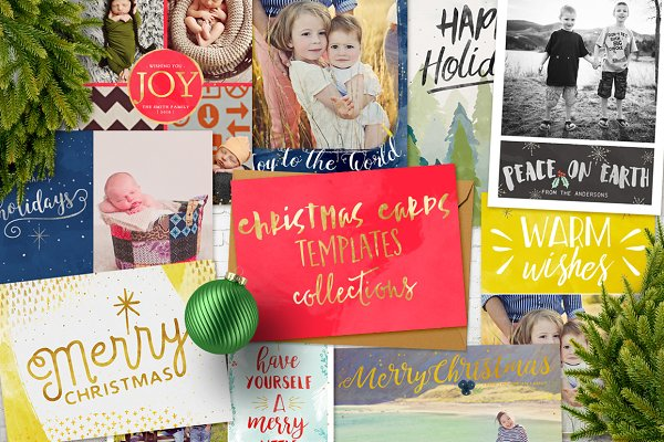 Card Templates: 7th Avenue Designs - Christmas Cards Templates Collection