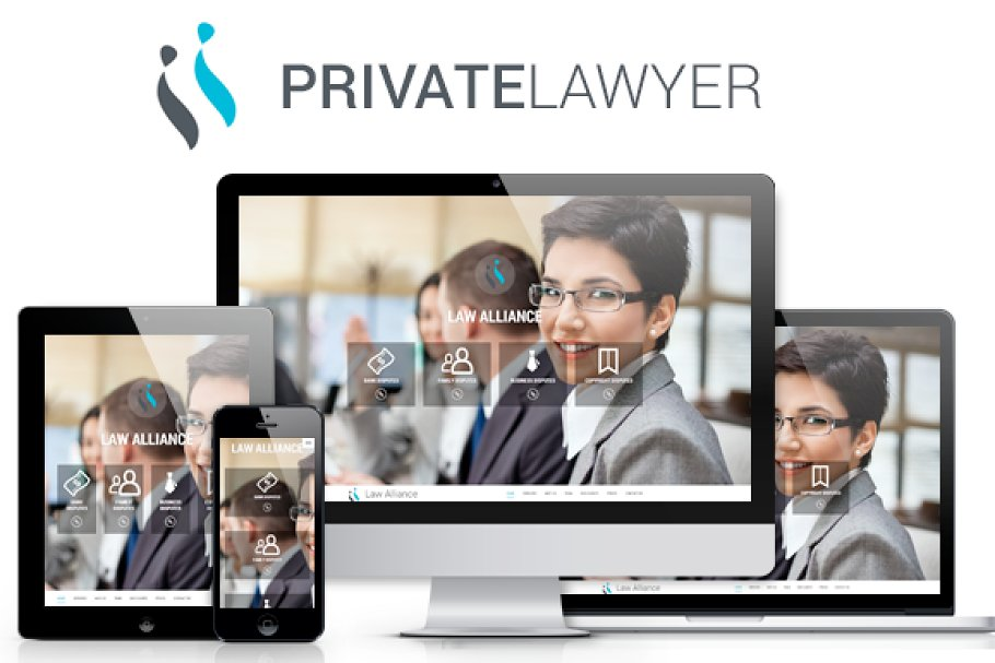 Private lawyer bootstrap theme