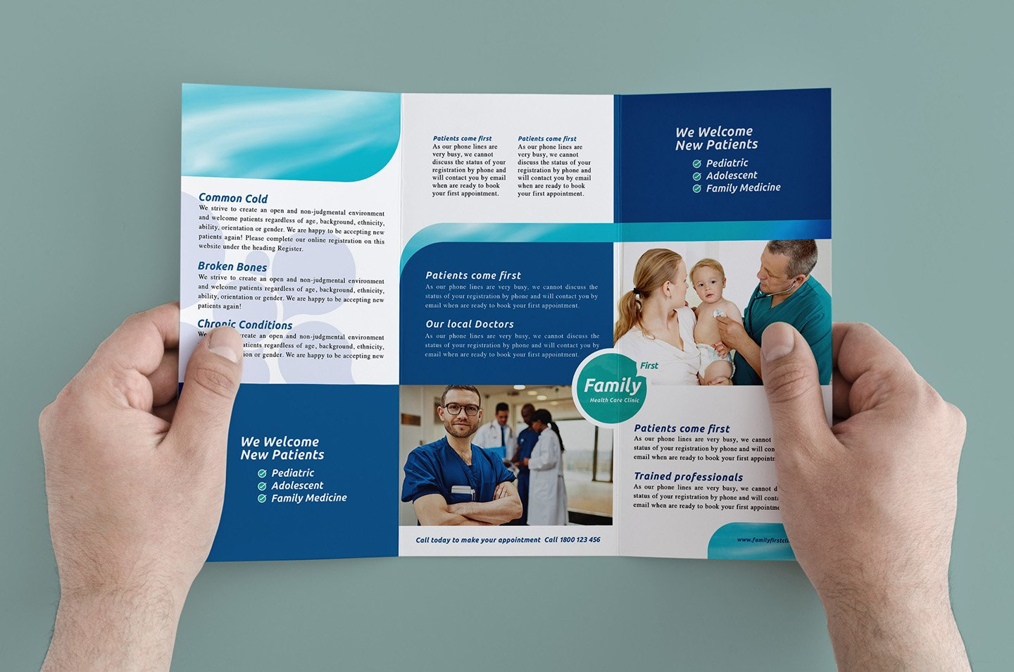 Trifold healthcare clinic template brochure templates for Healthcare brochure templates