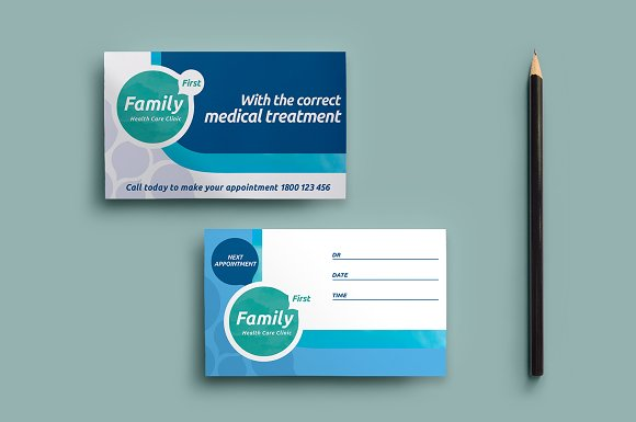 Healthcare Clinic Appointment Card Business Card Templates - Appointment business card template