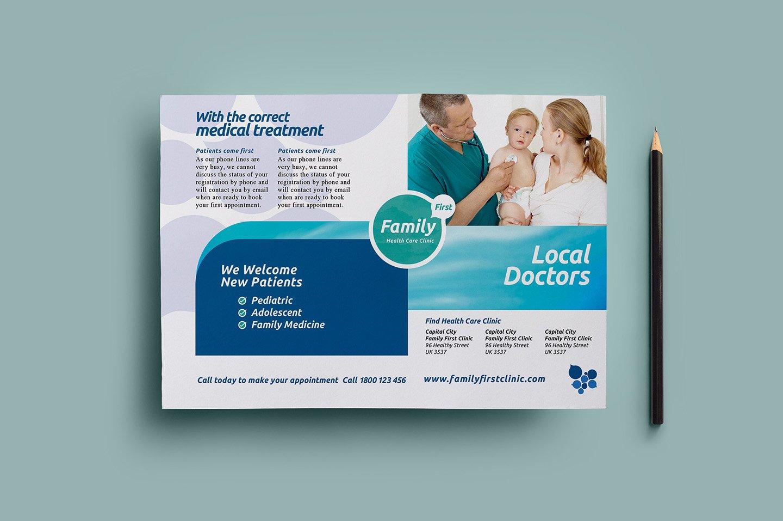 healthcare flyer template flyer templates creative market