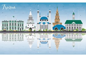 Kazan Skyline with Gray Buildings
