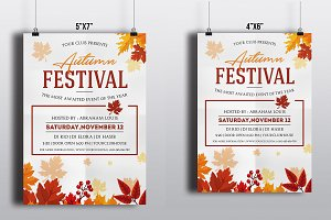 Autumn Festival Flyer Template-V404