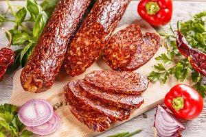 Smoked sausage salami