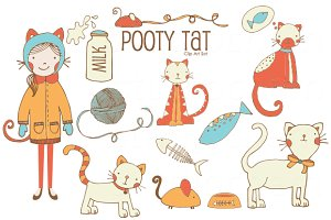 Pooty Tat VECTOR Clip Art Set