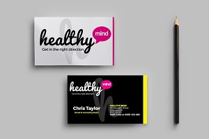Healthy Mind Business Card Template