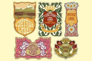 Label Art Nouveau - SALE!