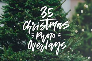 35 Christmas Photo Overlays
