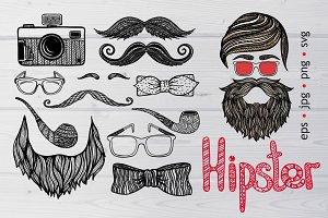 Hipster Doodle Set