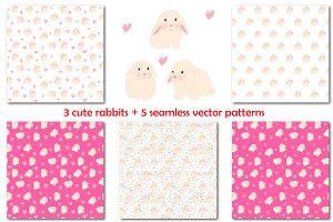 Rabbit vector set+ 5 patterns