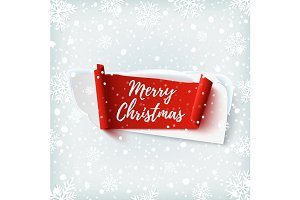 Merry Christmas abstract banner.
