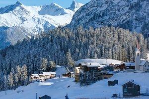 Winter mountain village (Austria)
