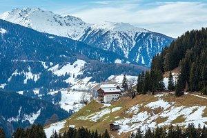 Mountain Obergail village (Austria)