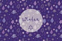 Vector cute winter patterns.