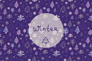 Vector cute winter patterns.