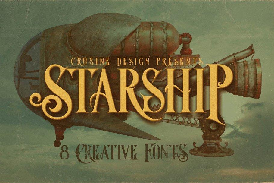 35e074b1fbf Starship Typeface ~ Display Fonts ~ Creative Market