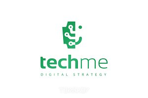 Techme Brain Logo Template
