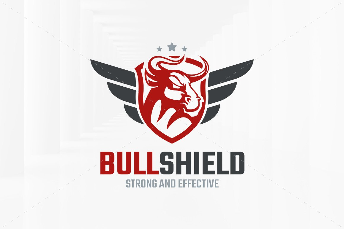 Bull Shield Logo Template Logo Templates Creative Market