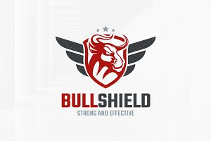 Bull Shield Logo Template