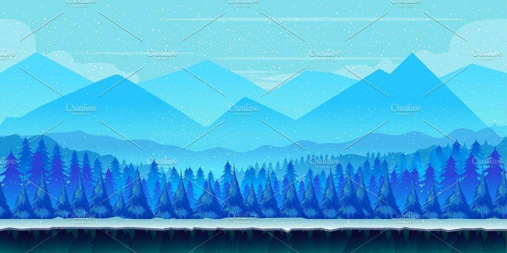 winter game background illustrations creative market