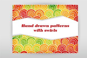 Swirls seamless patterns + Bonus