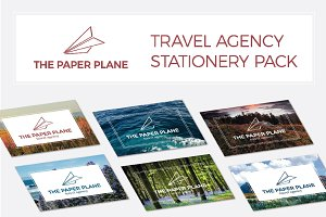 The paper plane - stationery pack