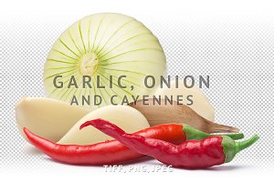 Garlic, onion, cayenne