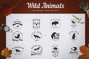 Wild Animals Logo/Badge Templates v1