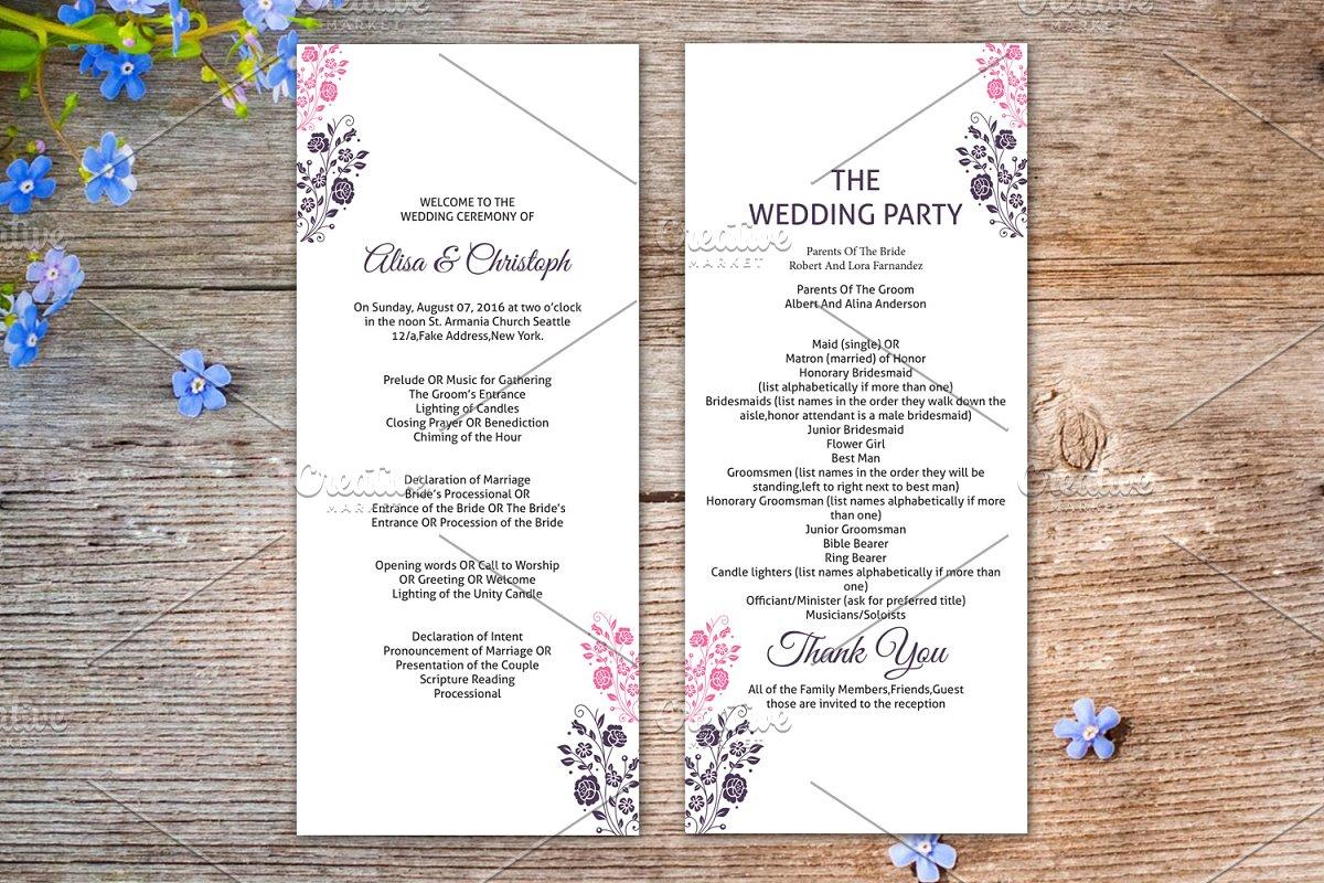 Wedding Ceremony Program Template.Wedding Ceremony Program Template