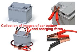 Collection of photos of car battery