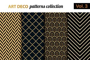 Art Deco vector patterns set 3