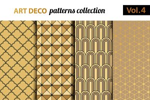 Art Deco vector patterns set 4