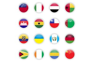 Flags set of the world