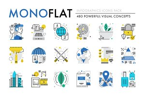 Monoflat Infographics Icons