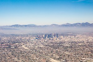 Los Angeles California Aerial View