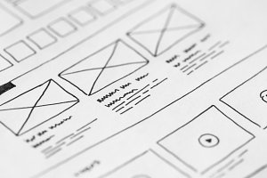Sketching Webdesign Wireframe Ideas