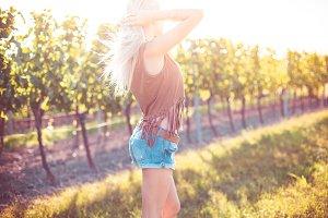 Happy Girl Enjoying the Summer