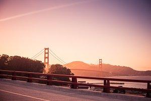 Golden Gate Bridge at Evening Sunset
