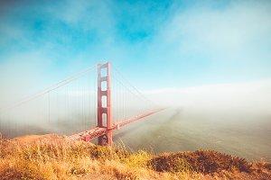 Golden Gate Bridge Foggy & Sunny