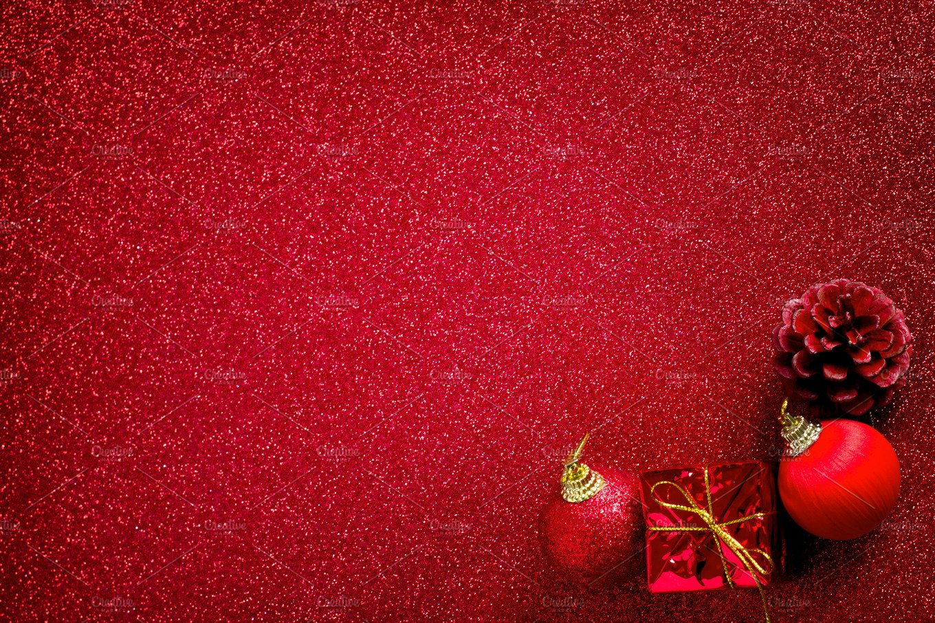 red christmas background holiday photos creative market - Red Christmas Background