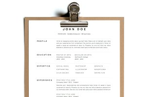 Simple Resume Template | Design 1