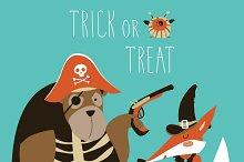 Animals in halloween costume