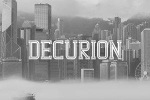 Decurion Typeface