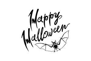 Happy Halloween bat vector