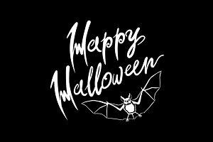 vector black Happy Halloween bat