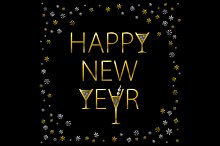 Happy New Year. Holiday Vector